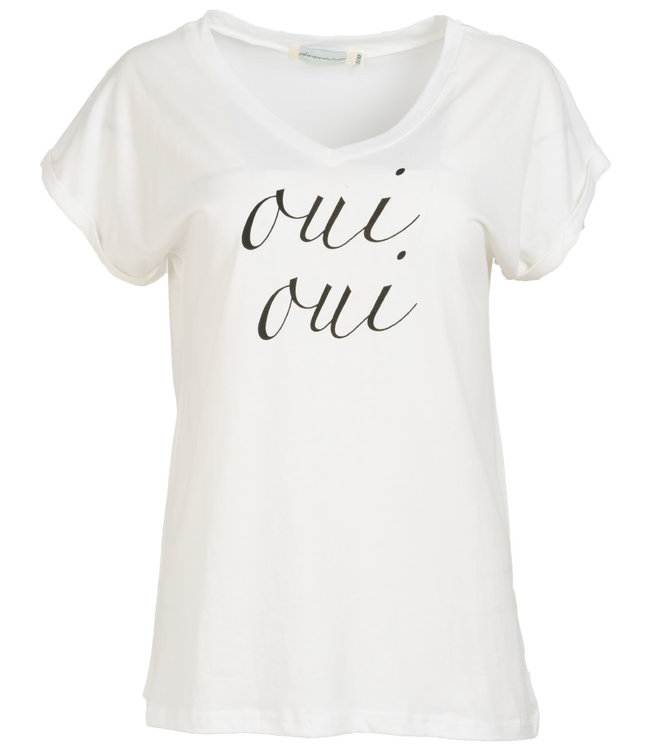 Azzurro Shirt wit/zwart oui