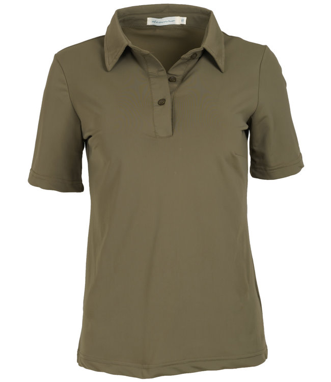 Azzurro Polo shirt travelstof  groen Joyce