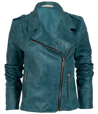 Wannahavesfashion Biker jacket petrol  Billy
