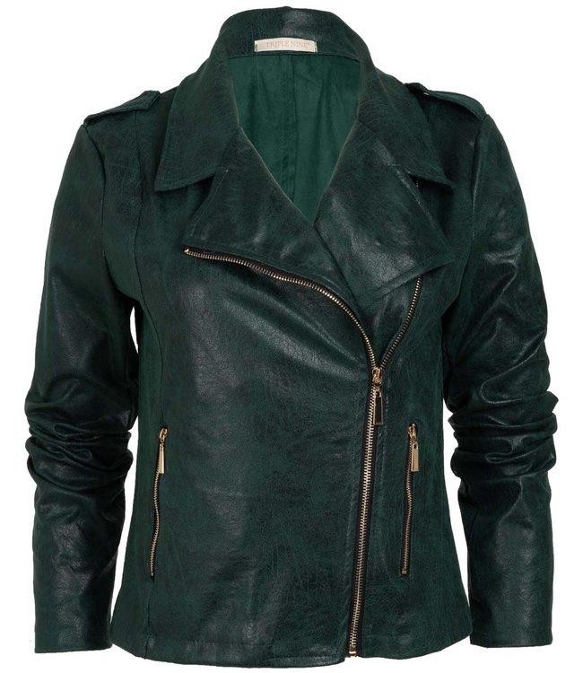 Wannahavesfashion Biker jacket  flesgroen  Billy