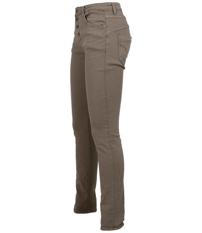 place du Jour Jog jeans taupe Leonie