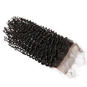Celebs RAW Hair Silk Base Closure (4x4) Kinky Curls
