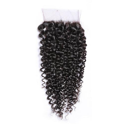 Celebs Virgin Hair Silk Base Closure (4x4) Kinky Curls