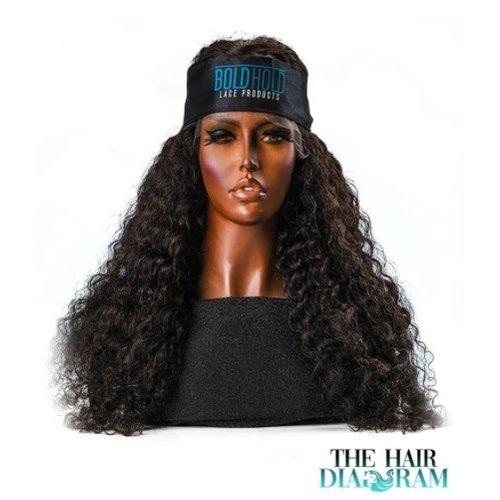 The Hair Diagram Satin Edge Scarf