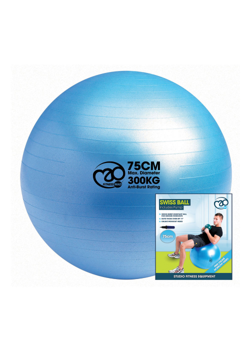 Fitness Mad Fitness Mad Swiss Ball with Pump 75cm