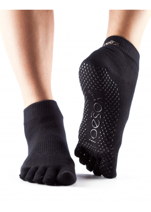 Fitness Mad Toesox Grip Ankle Full Toe Socks