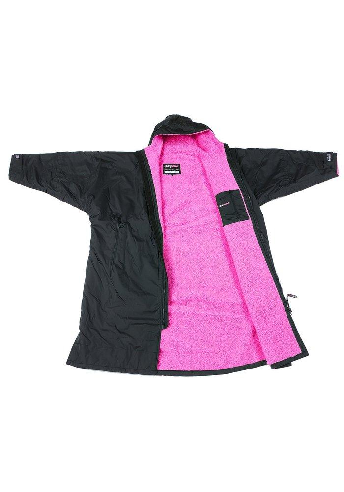 DryRobe Advance Long Sleeve Black Pink