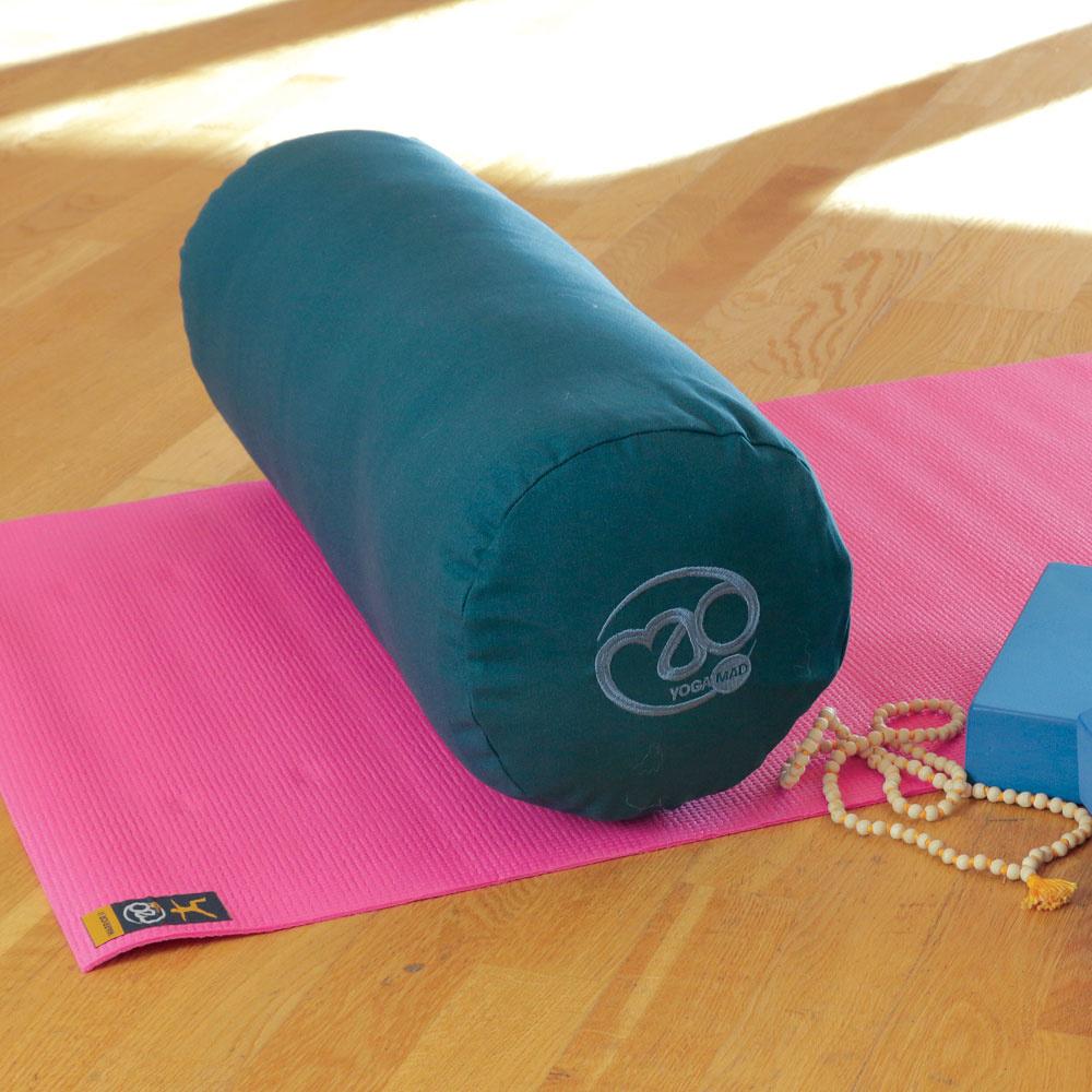 Fitness Mad Fitness Mad Organic Cotton Yoga Bolster Blue
