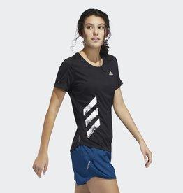adidas adidas Women's Run It 3 Stripes Fast Tee