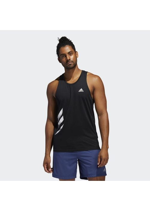 adidas adidas Own the Run 3 Stripes PB Singlet