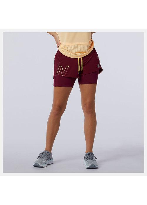 New Balance New Balance Printed Impact Run 2in1 Shorts