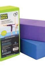Fitness Mad Fitness Mad Full Density Yoga Brick Blue