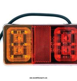 Achterlicht 16 leds 12-24 volt 3 functies E-keur