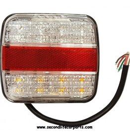 Achterlicht wit 12-24 volt 3 functies E-keur