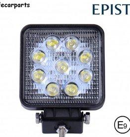 Werklamp 27 watt led vierkant E-keur