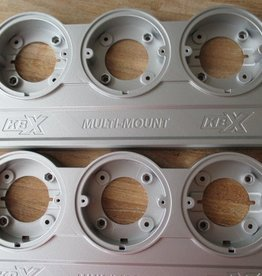kbx KBX9201 | KBX NAS Multi Mounts - Zambezi Silver - Pair