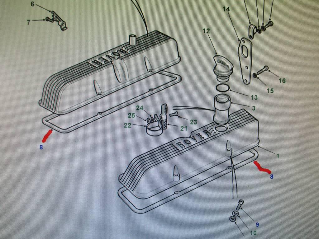 LVC100260 KLEPPENDEKSEL PAKKING V8