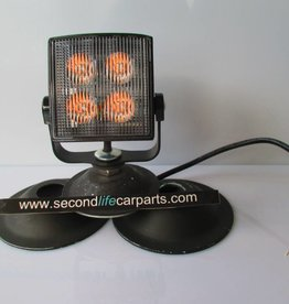 FL071 LED LIGHT HEADS 12/24V SQUARE MULTI FLASH PATTERN AMBER