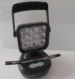 LED werklamp Amber/Wit 9 watt 12-220 volt OPLAADBAAR