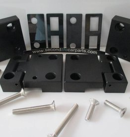 DEFENDER  Front Door Hinges Anodised Black Aluminium