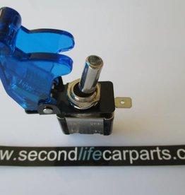 Schakelaar led 20 ampère 12 volt  blauw
