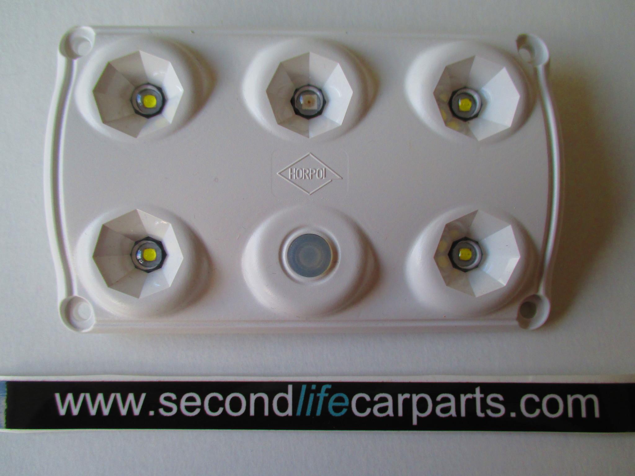 Binnenverlichting rood/wit met schakelaar 12-24 volt