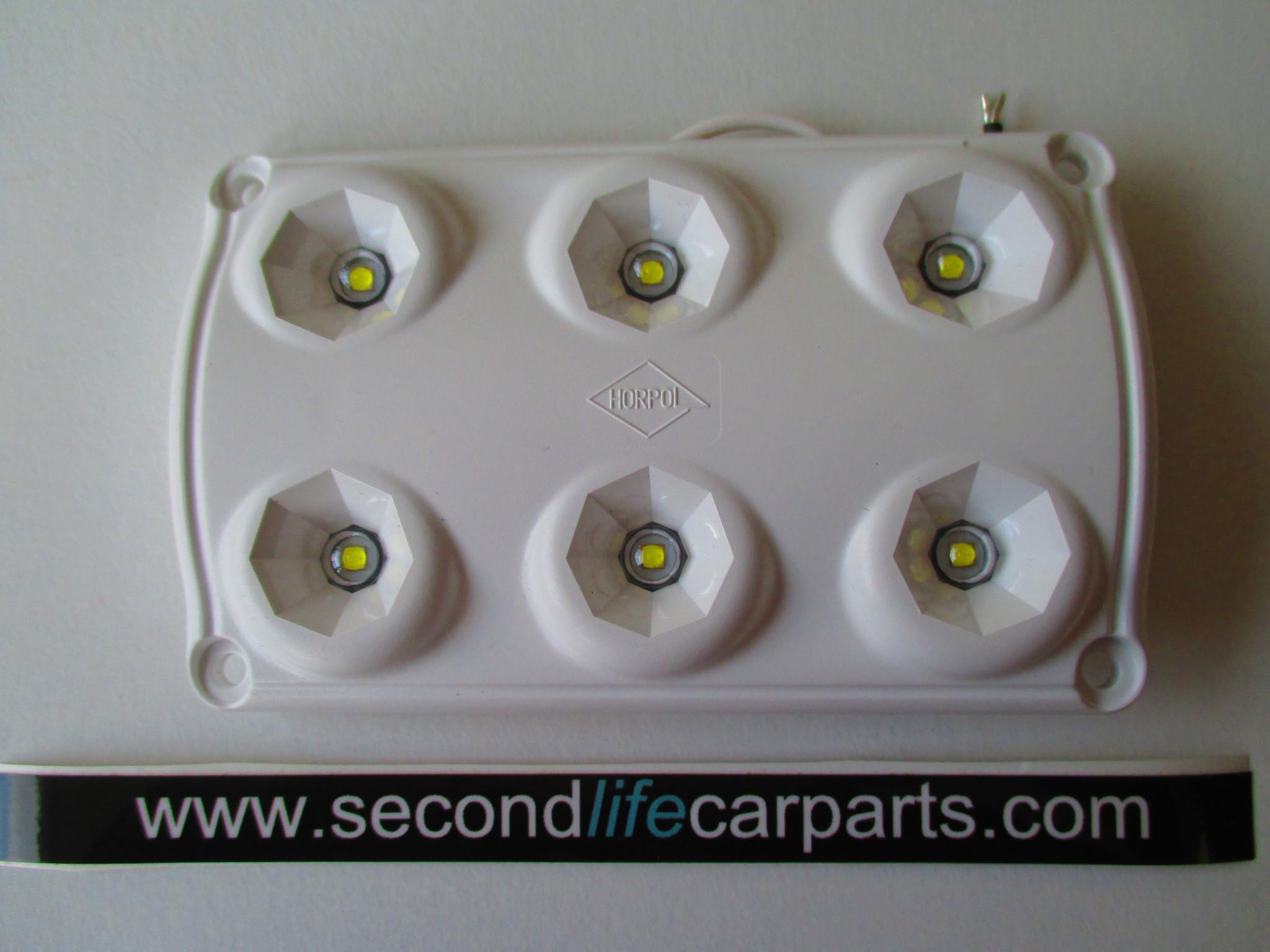 Binnenverlichting wit zonder schakelaar 12-24 volt