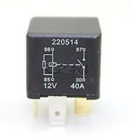 YWB10027L 4 Pin Relay Yellow or Black 12volts 40 Amps