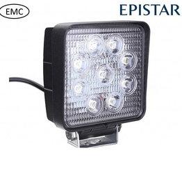 Werklamp 27 watt led vierkant EMC