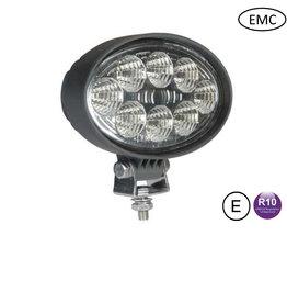werklamp 24 watt ovaal