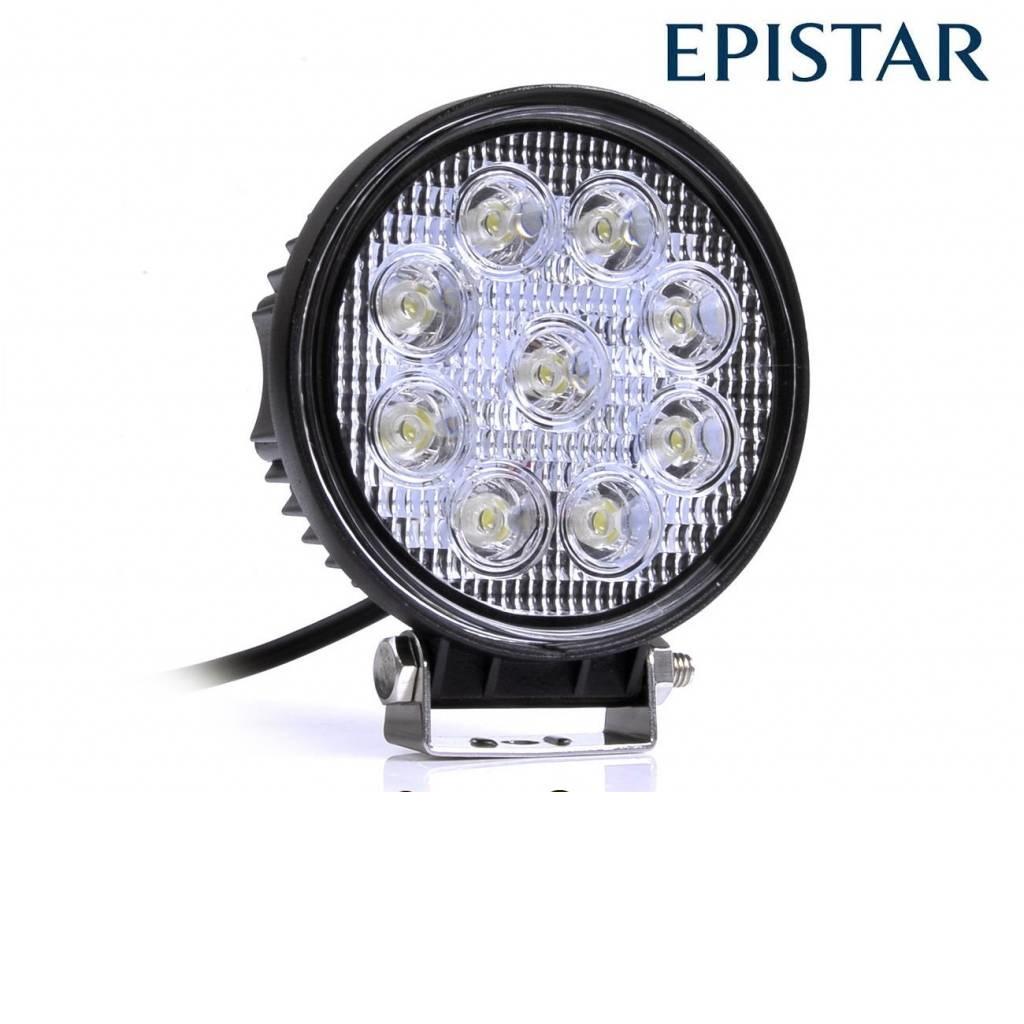 Werklamp 27 watt rond
