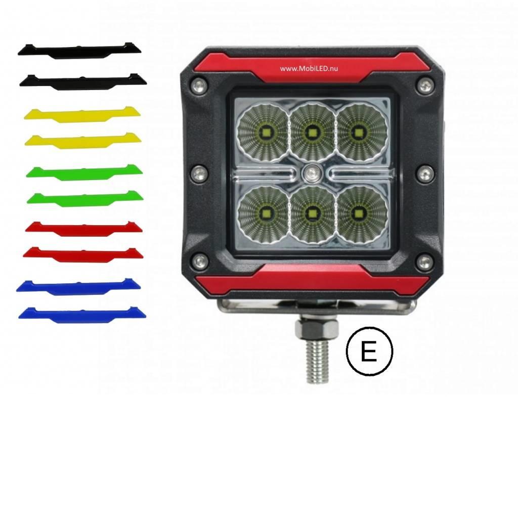 CREE breedstraler 18 watt vierkant (E-keur)