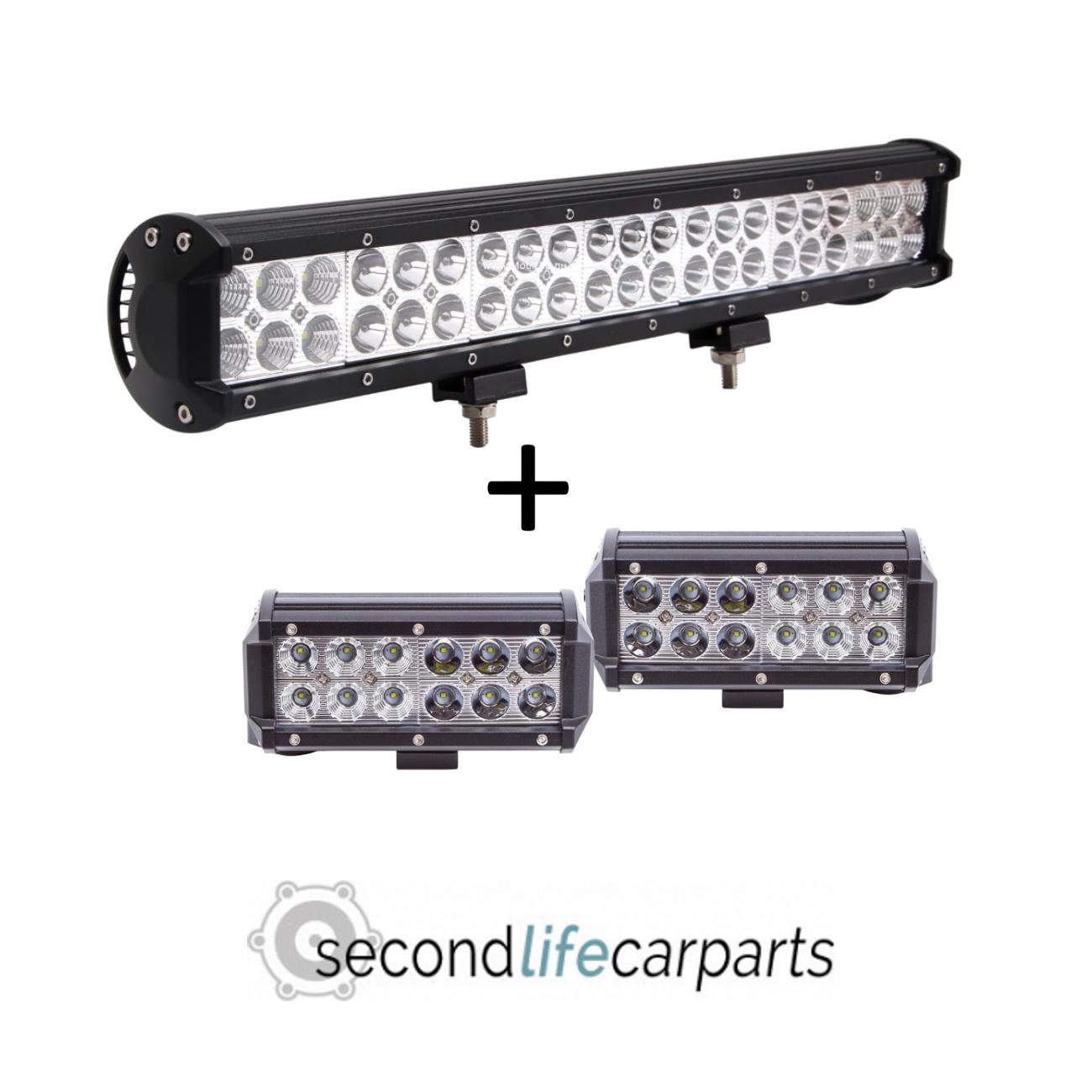 126w + 2x 36w combo beam light bars