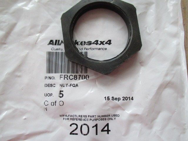 FRC8700 | Hub Lock Nut Early Type Def Ds1 Rrc