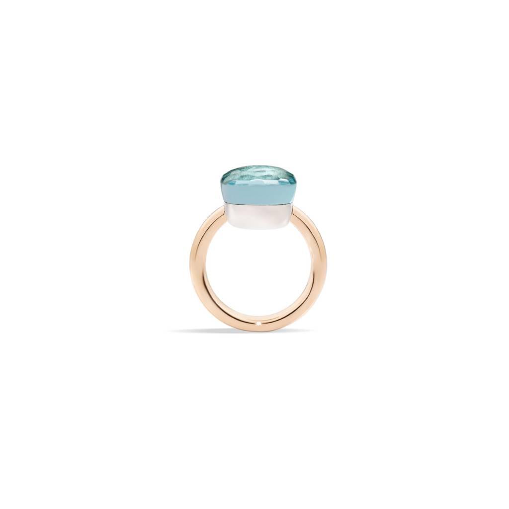 Pomellato Pomellato Nudo Maxi ring in 18 krt. roségoud met sky blue topaas