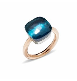 Pomellato Nudo Maxi ring met London blue topaas