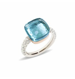 Pomellato Pomellato Nudo Maxi ring blauwe topaas en diamant