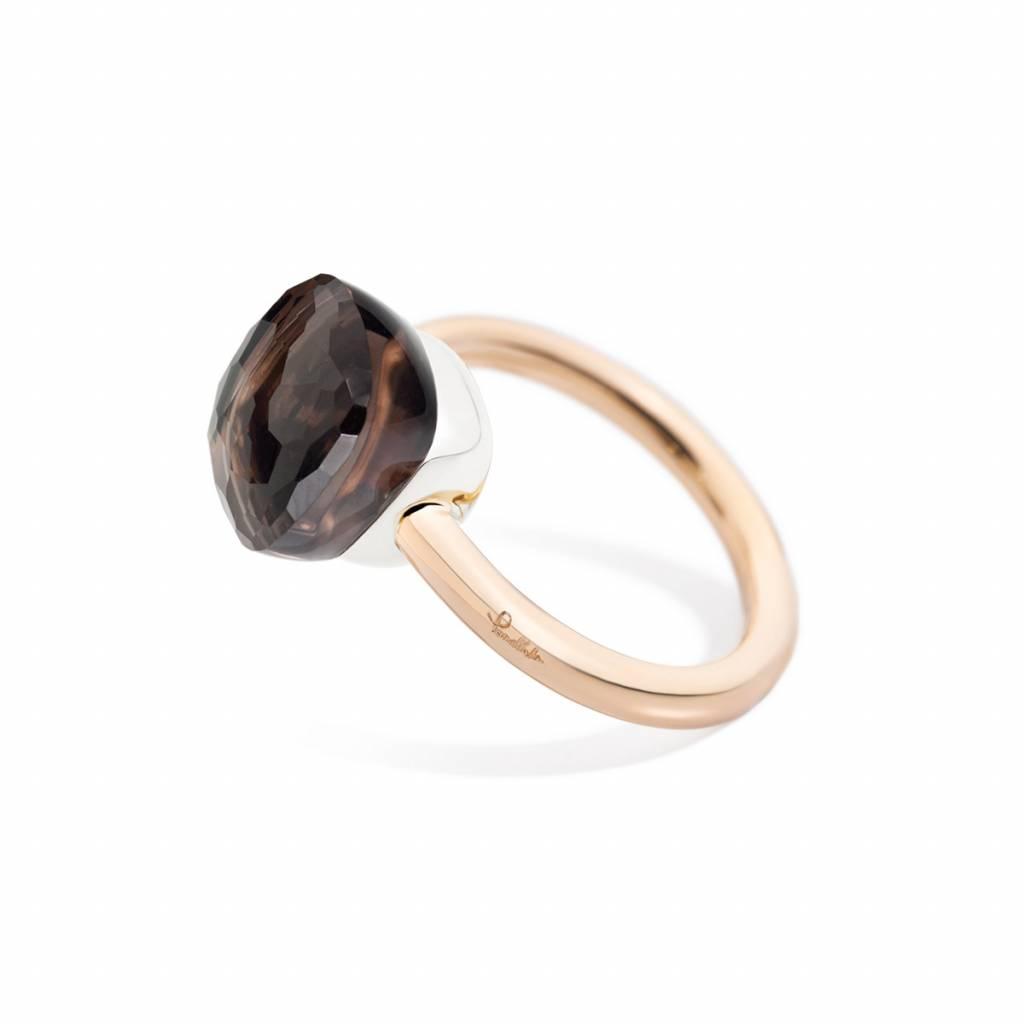 Pomellato Pomellato 18 kt. roségouden Nudo Classic ring met rook kwarts
