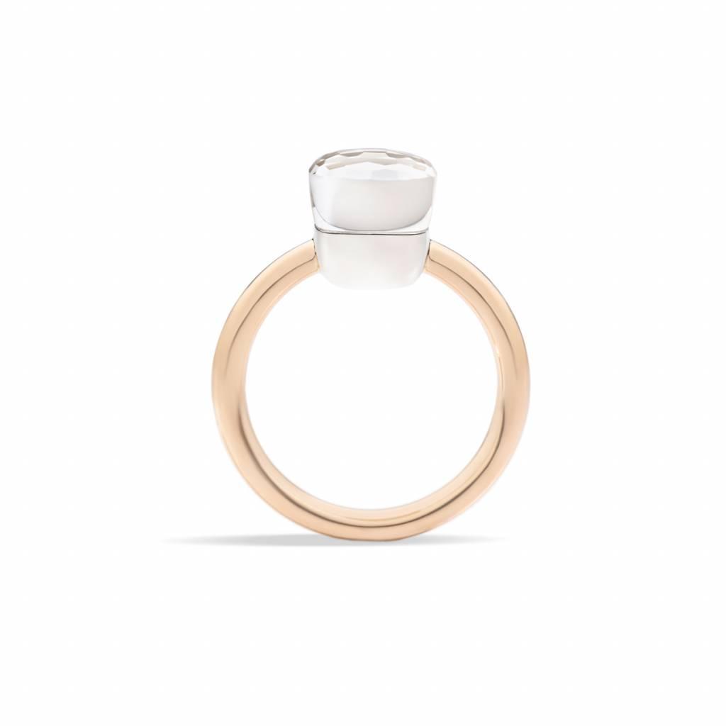Pomellato Pomellato 18 kt. roségouden Nudo Petit ring met witte topaas