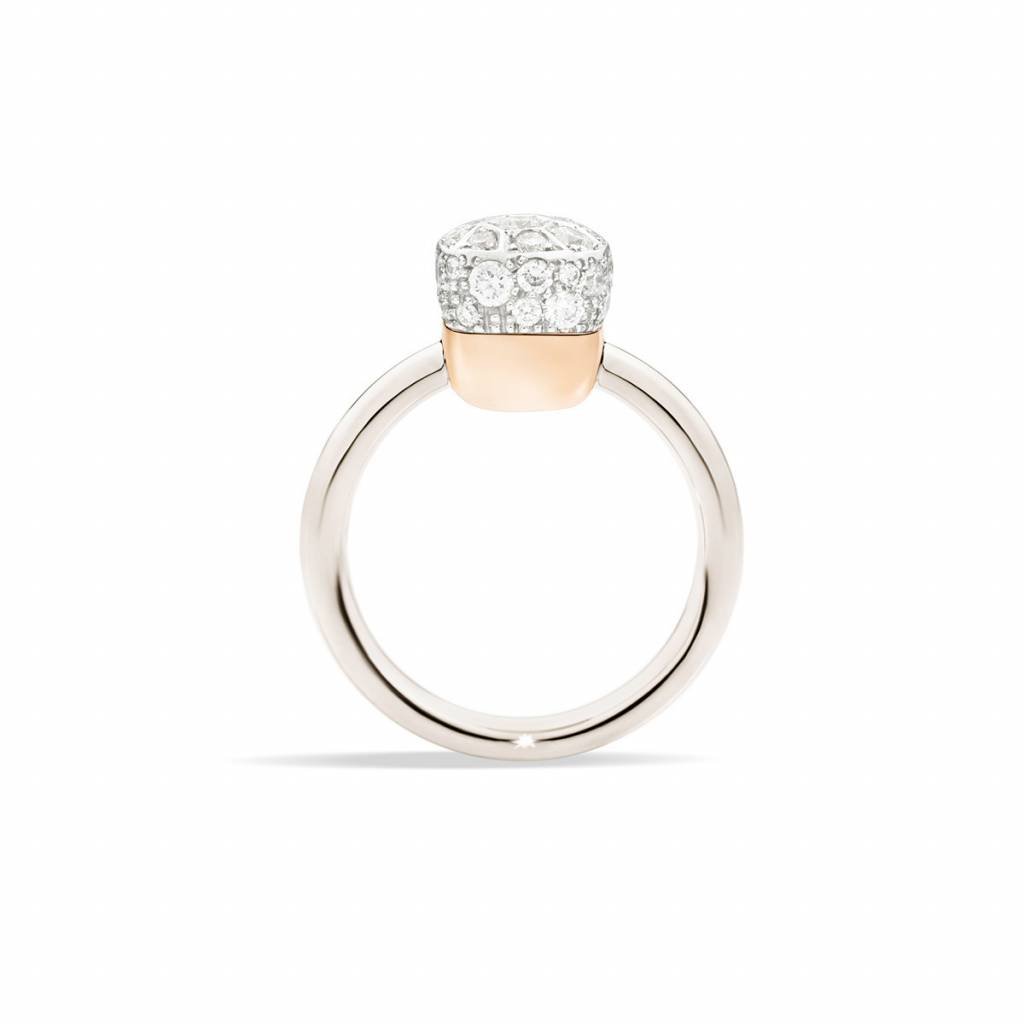 Pomellato Pomellato 18 kt. witgouden Nudo Solitair met diamant 0.84 ct.