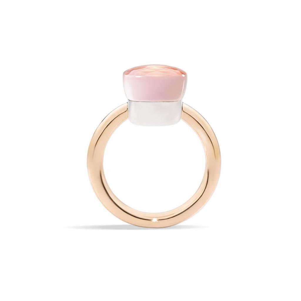Pomellato Pomellato 18 kt. roségouden Nudo Classic ring met roze kwarts
