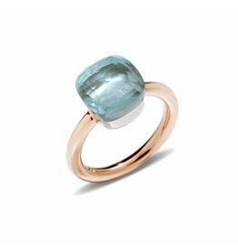 Pomellato Nudo Classic ring met sky blue topaas