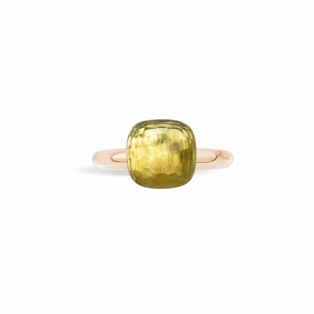 Pomellato Pomellato 18 kt. roségouden Nudo Classic ring met lemon kwarts