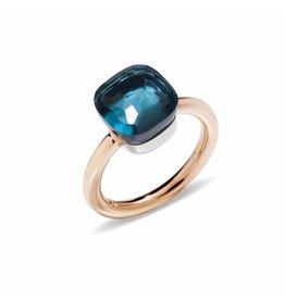 Pomellato Nudo Classic ring met London blue topaas