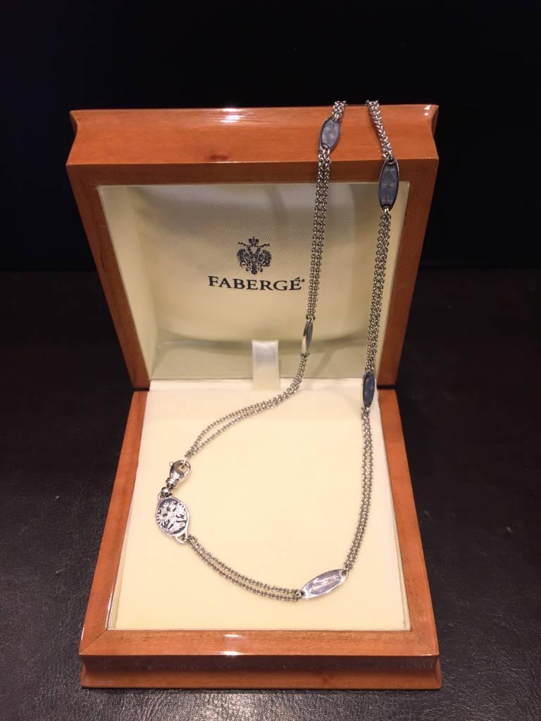 Fabergé Fabergé 18 kt. witgouden dubbele jasseron collier