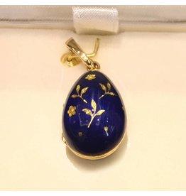 Fabergé Fabergé ei hanger blauw emaille medaillon uitvoering