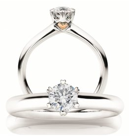 Capolavoro Solitair ring 18 kt. witgoud 0.33 ct.  GIA Certificaat