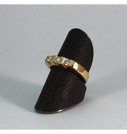 18 kt. gouden ring diamant