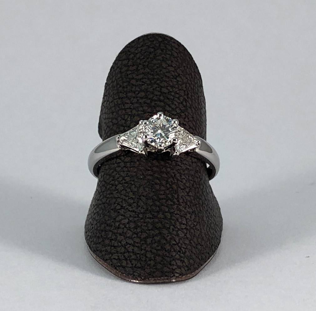 18 kt. wit gouden ring met diamanten 0.83 ct.
