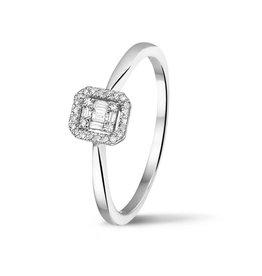 Private Label CvdK Wit gouden ring met diamant